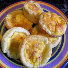 Mini Egg & Bacon Pies