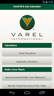 Varel Oil & Gas Calculator - screenshot