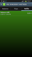 Screenshot of Travel card reader free