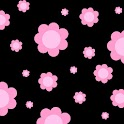 Black Flower Power 480x800 icon