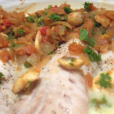 Perch or Snapper Fillet With Tomatoes and Onion