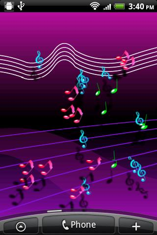 Live Musical Note Wallpaper