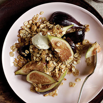 Drunken Figs with Black Pepper Granola