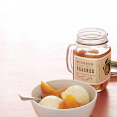 Bourbon-Poached Peaches