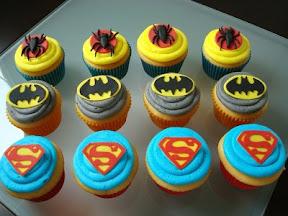 Superhero Trio Cupcakes