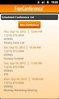 Screenshot of FreeConference Mobile
