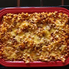 Chili Casserole with Egg Noodles