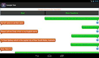 Screenshot of IELTS Speaking Practice