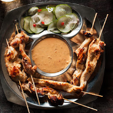 Chicken Satay with Spicy Peanut Sauce Recipe