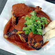 Tequila-Marinated Chicken with Mexican Mole Sauce