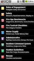 Screenshot of Fire Officer Field Guide SHS