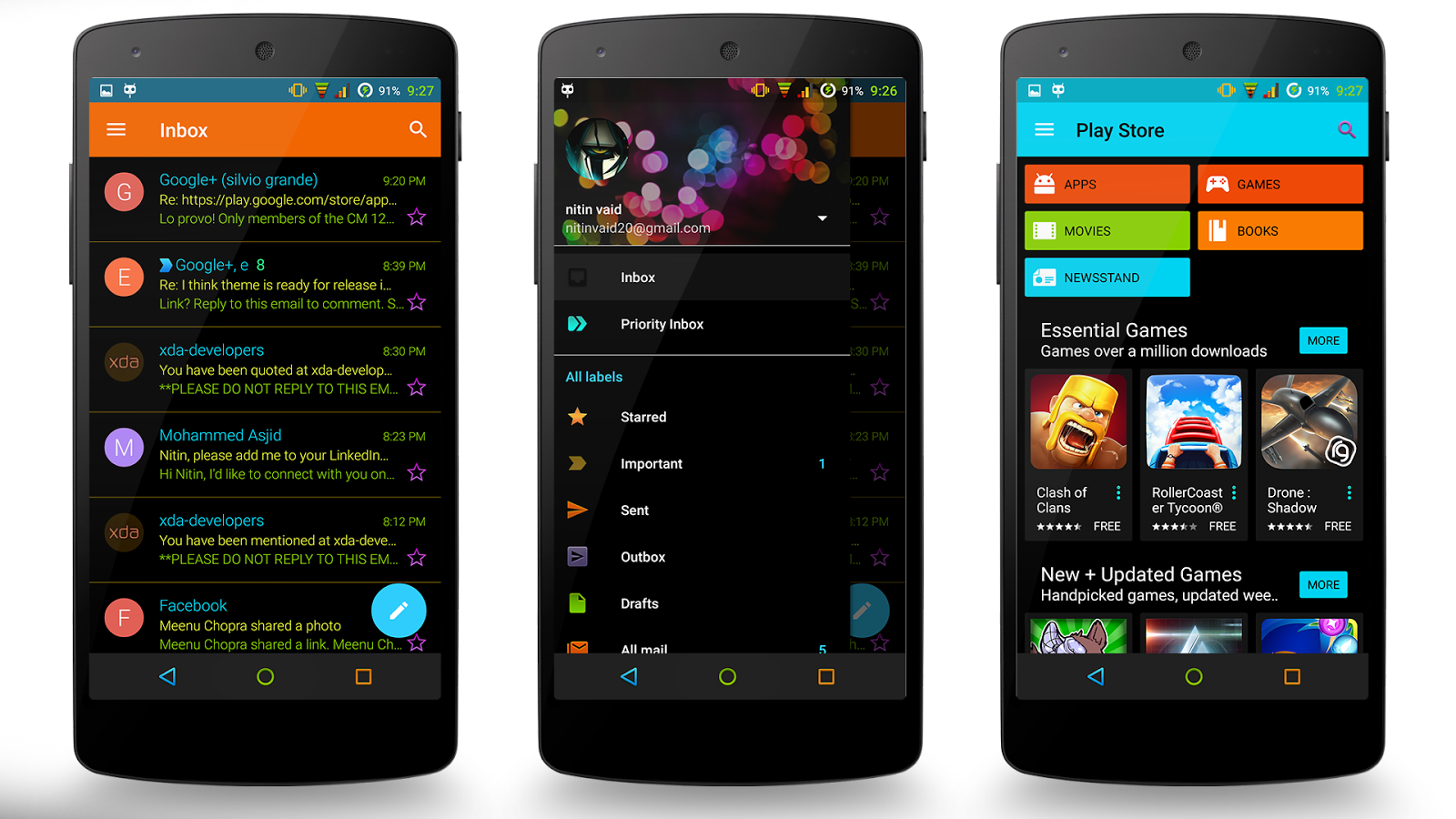 Neon Colors Theme CM 13/12.1 Screenshot 12