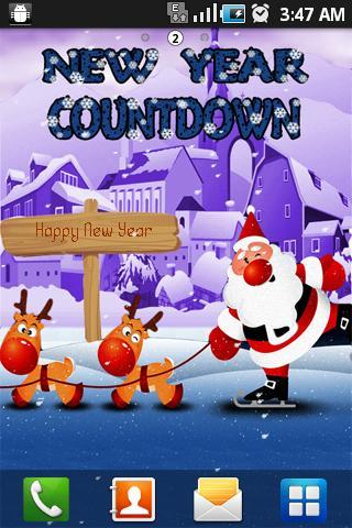 New Year Santa Live Wallpaper