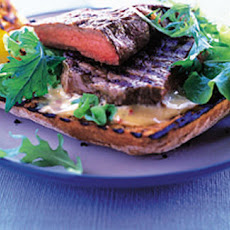 BBQ steak bruschetta with Dijon mayonnaise