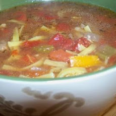Hearty Steak Soup With Noodles