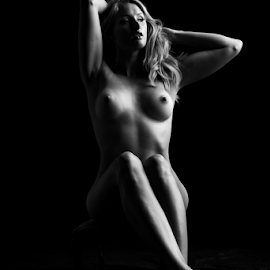 Artistic lines by Paul Phull - Nudes & Boudoir Artistic Nude ( body, art nude, blonde, sexy, black and white )