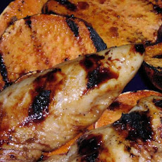 Ww Tropical Chicken With Grilled Sweet Potatoes