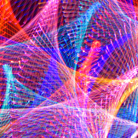 Light peaks ! by Jim Barton - Abstract Patterns ( light peaks, laser light, colorful, light design, laser design, laser, light, peake, science )