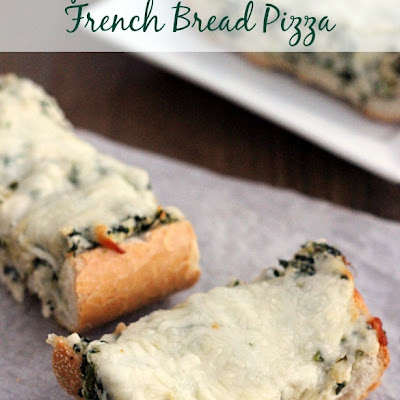 Spinach and Artichoke French Bread Pizza