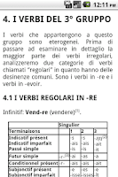 Screenshot of Grammatica Francese - I Verbi