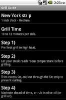 Screenshot of Grill Guide