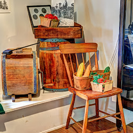 Chair by Robert Peterson - Artistic Objects Furniture ( chair, butter churn, still life, benson-hammond house )