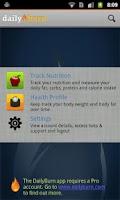 Screenshot of DailyBurn Tracker