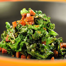 Mustard Greens & Red Pepper Chorizo Vinaigrette