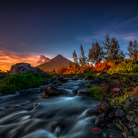 Mayon Volcano by Alnor Prieto - Landscapes Mountains & Hills