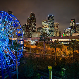 Houston, Tx at Night by Andrew Cruz - Buildings & Architecture Office Buildings & Hotels ( tx, houston )