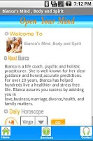 Screenshot of Bianca's Mind Body and Spirit