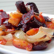 Roast Beetroots and Sweet Potatoes