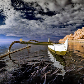 Indonesia Bali by Jimmy Chiau - Transportation Boats ( bali, indonesia, infrared, waterscapes, landscapes )