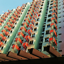 Red Pattern by Koh Chip Whye - Buildings & Architecture Other Exteriors (  )
