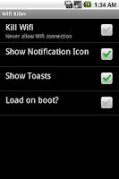 Screenshot of WiFi Killer