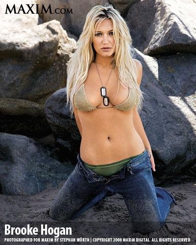 Brooke Hogan Maxim bikini image photos