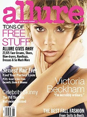 Victoria Beckham Allure August cover picture