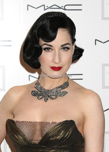 Picture of Dita Von Teese attNew York Academy of Art Celebrates 25 Years with 'Take Home A Nude' Art Auction and Party on April 16, 2008