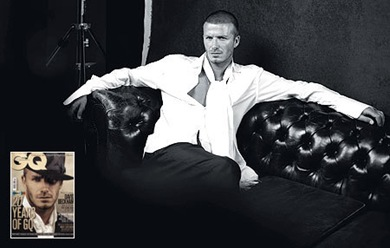 David Beckham GQ UK photo December 2008