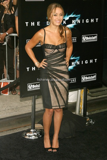 Picture of Lauren Conrad with a bustier sheath dress at Dark Knight world premiere