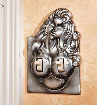 woman breast shaped switch