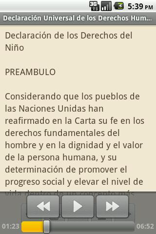 【免費書籍App】Declaración Derechos Humanos-APP點子