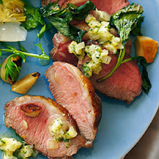 Spring Lamb Roasted with Mint and Garlic