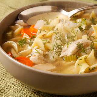 Chicken Noodle Soup with Dill & Fennel
