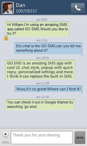 GO短信简约蓝色主题