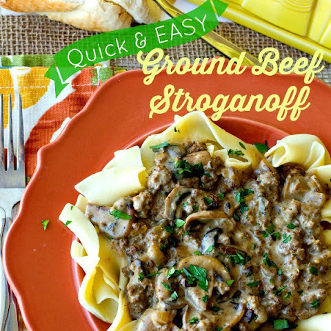 Ground Beef Stroganoff – a Quick & Easy Weeknight Dinner
