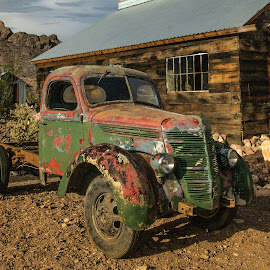Green or is it Red Truck? by Eric Yiskis - Transportation Automobiles ( red, truck, green, nevada, a6000, nelson, rusty,  )