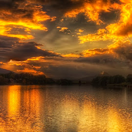 Holany by Petr Klingr - Landscapes Sunsets & Sunrises ( clouds, hdr, autumn, sunset, panorama,  )