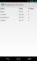 Screenshot of GroceryGo