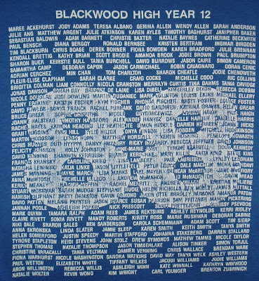 Front of Blackwood High Year 12 jumper from 1988